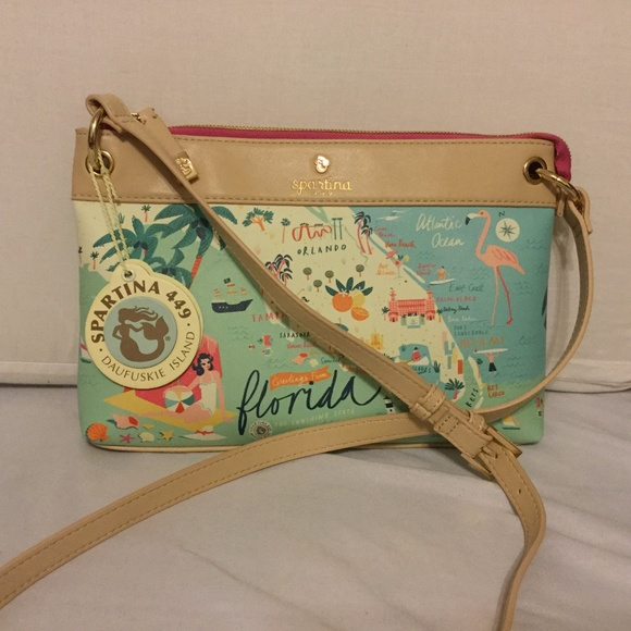 f7764415e2 SPARTINA Florida Crossbody Bag NWT